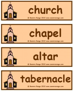 Church Vocabulary