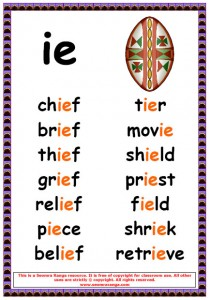 Worksheets Ie Words Phonics List phonics poster ie words