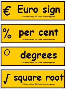 Maths Signs and Symbols