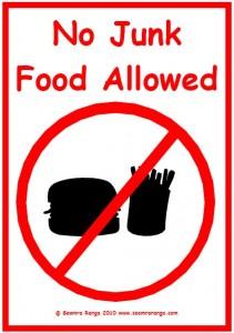 No Junk Food Allowed