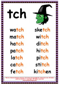Printables Ir Words Phonics phonics poster tch words