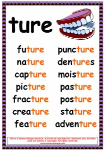 Phonics Poster – ture Words