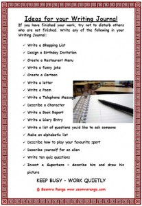Ideas for Writing Journal