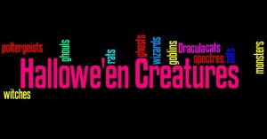 Hallowe'en Creatures Wordle