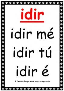 Forainmneacha Réamhfhoclacha: Idir