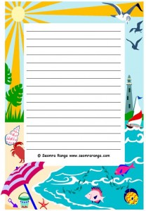 Summer Page Border Images & Pictures - Becuo