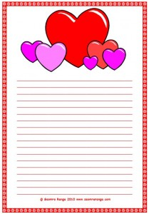 Valentine Lined Page #4