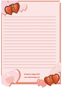 Valentine Lined Page #5