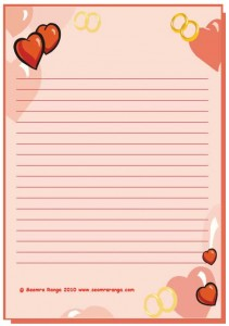 Valentine Lined Page #6