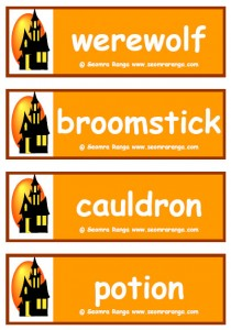 Hallowe'en Vocabulary