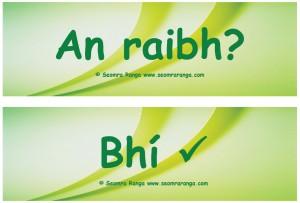 An Raibh / An bhFuil