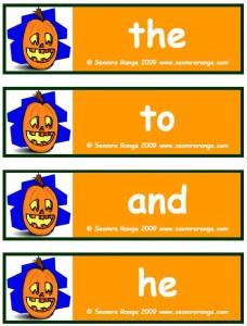 Hallowe'en Dolch List 01