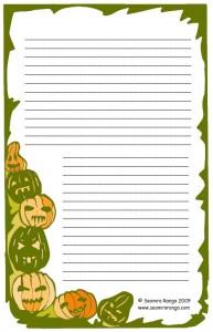 Hallowe'en Lined Page 1