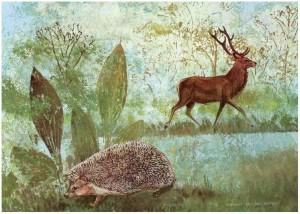 Red Deer and Hedgehog