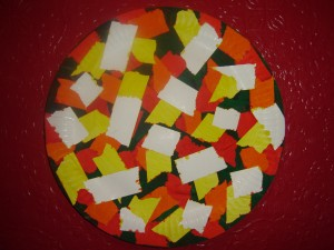 Patterned Paper Plate