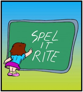 Template for a class spelling list for a week. The template encourages ...