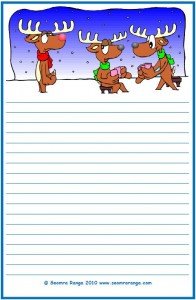 Christmas Lined Page #4