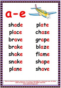 Phonics Poster – a-e Words 02 | Seomra Ranga
