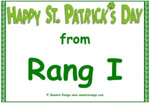 St. Patrick's Door Sign