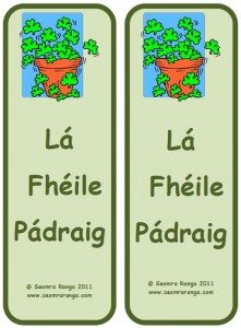 St. Patrick's Day Bookmark 03
