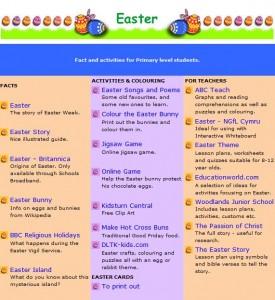 Scoilnet Easter Themepage