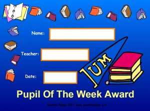 Pupil of the Week Award 01