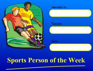 Sports Person of the Week