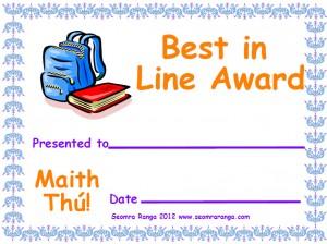 Best in Line Award