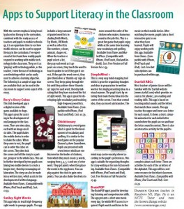 Apps to Support Literacy