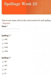 QR Code Spelling Test