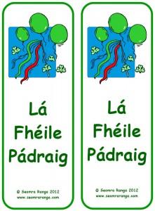 St. Patrick's Day Bookmark 04
