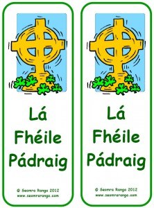 St. Patrick's Day Bookmark 05