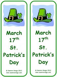 St. Patrick's Day Bookmark 06