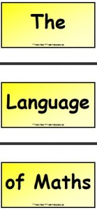 The Language of Maths