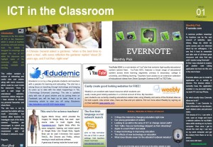 ICT in the Classroom eBulletin – Issue 01