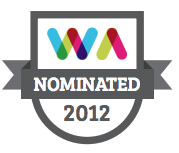 2012 Webs Nominated Badge