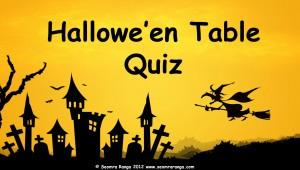 Hallowe'en Table Quiz