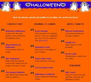 Scoilnet Hallowe'en Themepage