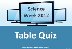 Science Week Table Quiz