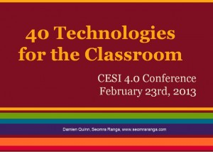 40 Technologies for the Classroom