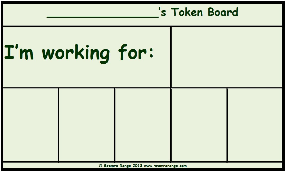 image regarding Token Board Printable known as Token Board 01 Seomra Ranga