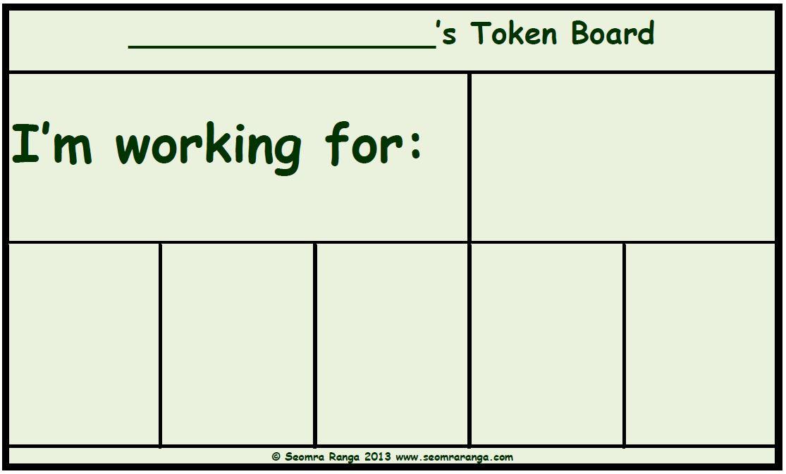 graphic relating to Token Board Printable identified as Token Board 01 Seomra Ranga
