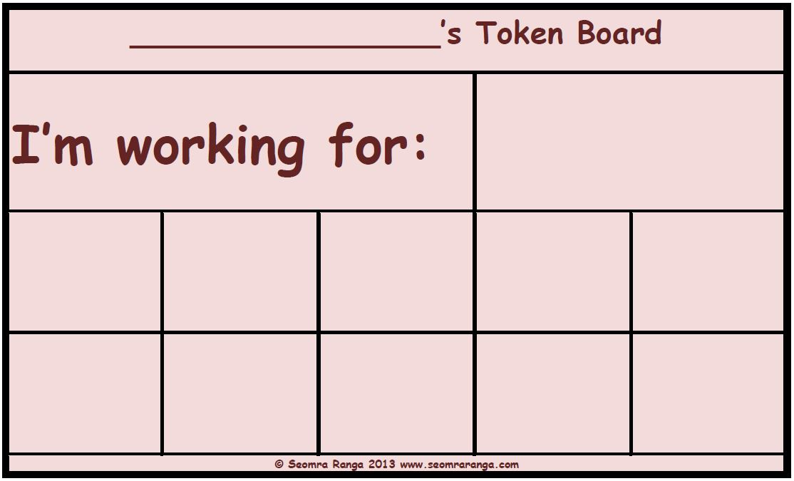Monster image with token board printable