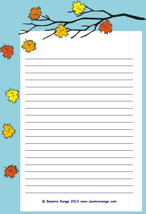 Autumn Lined Page 01 | Seomra Ranga