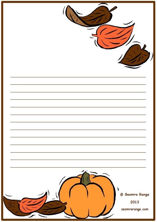 autumn writing paper Autumn is a season with of so much colour, perfect inspiration to get kids writing you can make really simple autumn poems and decorate them with leaves that you.
