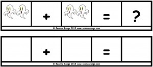Hallowe'en Maths Sentence Builders 01