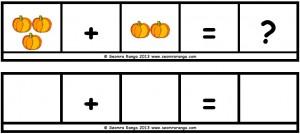 Hallowe'en Maths Sentence Builders 02