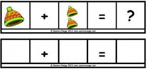 Maths Sentence Builders - Hats