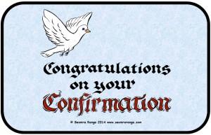 Confirmation Congratulations