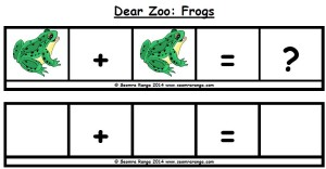 Dear Zoo Maths Sentence Builders Frogs